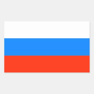 Russian Federation Flag (1991-1993) Rectangular Sticker