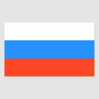 Russian Federation Flag (1991-1993) Rectangle Sticker