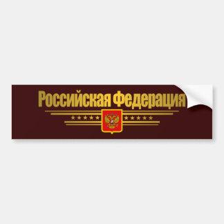 Russian Federation Flag & Emblem Car Bumper Sticker