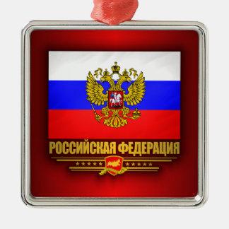 Russian Federation Flag & Emblem Metal Ornament