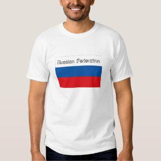Russian Federation flag souvenir tshirt