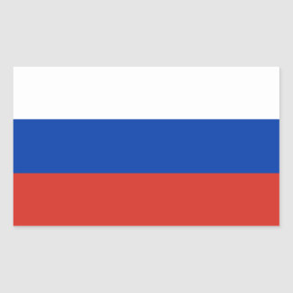 Russian Federation Flag Rectangle Sticker