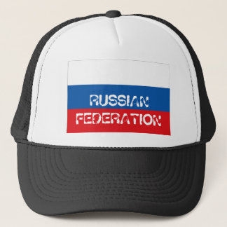 Russian Federation flag trucker mesh souvenir hat