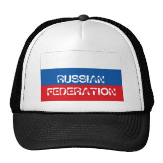Russian Federation flag trucker mesh souvenir hat