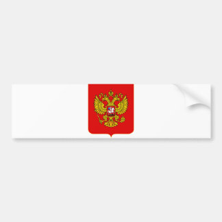 Russian Federation Official Coat Of Arms Heraldry Bumper Sticker
