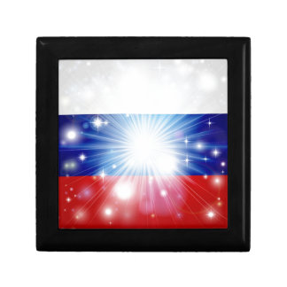 Russian flag background jewelry box