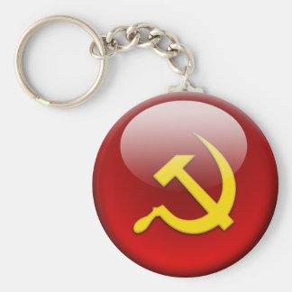 russian Flag Basic Round Button Keychain