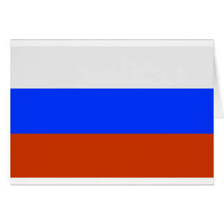 Russian Flag Card