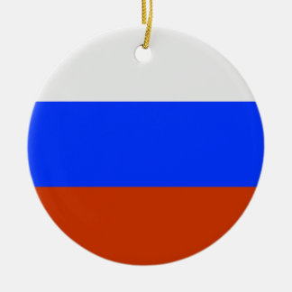 Russian Flag Ceramic Ornament