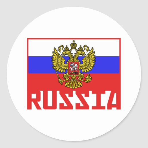 Russian Flag Classic Round Sticker