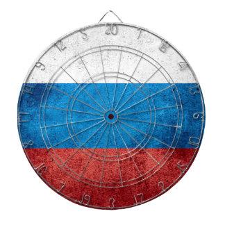 Russian Flag Dartboard With Darts