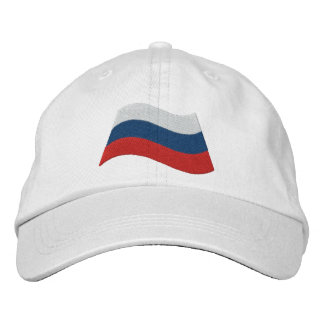 Russian Flag Embroidered Baseball Cap