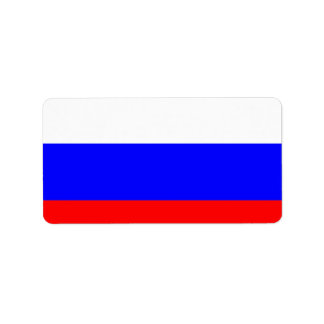 Russian Flag Label
