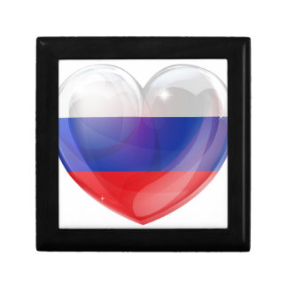 Russian flag love heart jewelry boxes