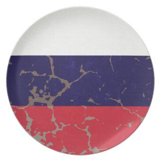 Russian Flag Melamine Plate