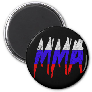 Russian Flag MMA 2 Inch Round Magnet