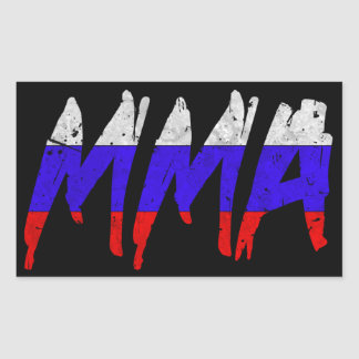 Russian Flag MMA Sticker