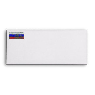 Russian Flag on Rough Wood Boards Effect Envelope