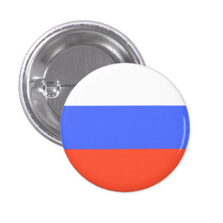 Russian Flag Pinback Button
