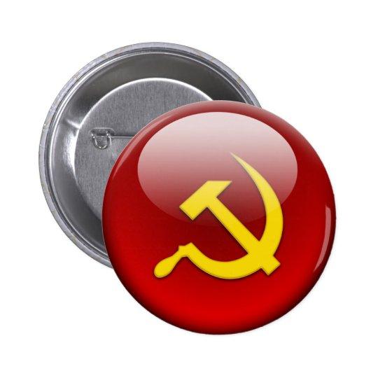 Russian Flag Pinback Button