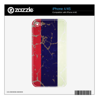 Russian Flag Decal For The iPhone 4