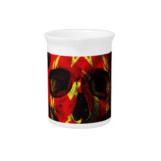 Russian flag skull beverage pitcher