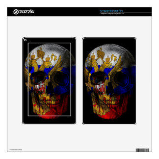 Russian flag skull decal for kindle fire