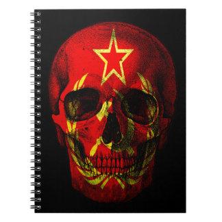 Russian flag skull notebook