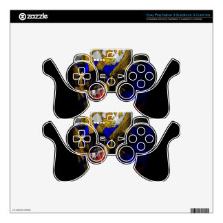 Russian flag skull PS3 controller decal