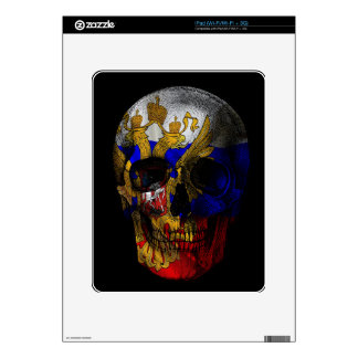 Russian flag skull skin for the iPad