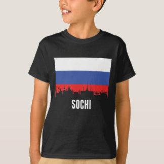 Russian Flag Sochi Skyline T-Shirt