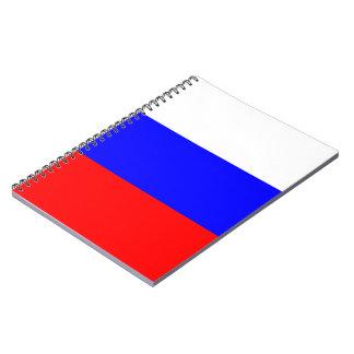 Russian Flag Spiral Notebook