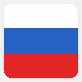 Russian Flag Square Sticker