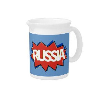 Russian flag star burst beverage pitchers