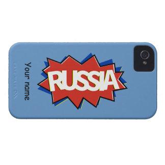 Russian flag star burst iPhone 4 Case-Mate cases