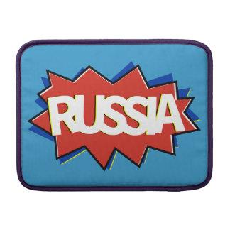 Russian flag star burst MacBook sleeve