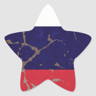 Russian Flag Star Stickers
