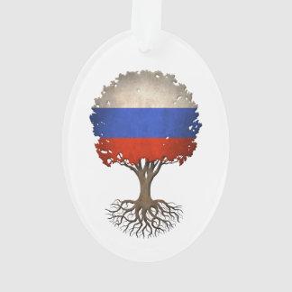 Russian Flag Tree of Life Customizable Ornament