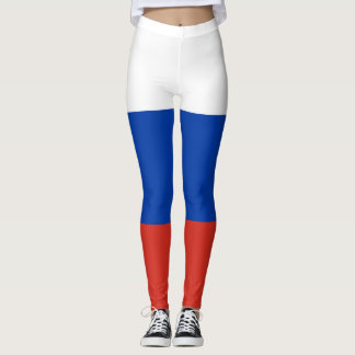 Russian Flag Tri-Colour Women's Leggings