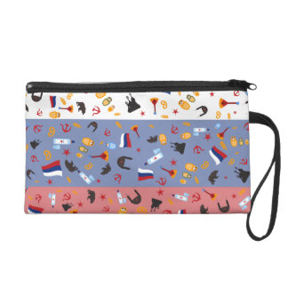 Russian Flag with stereotypes of the country Wristlet