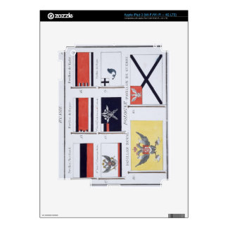 Russian Flags, from a French book of Flags, c.1819 iPad 3 Decal