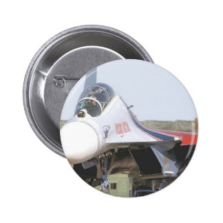 RUSSIAN FLANKER FIGHTER JET PINBACK BUTTON