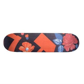 Russian Flower Rose Skateboard