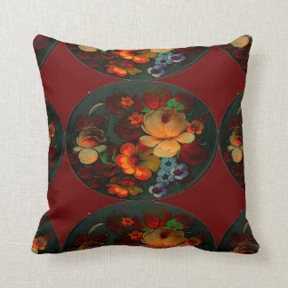 """Russian Flowers"" Throw Pillow"