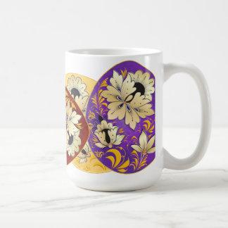 Russian Folk Art Decorated Eggs 2 Coffee Mug