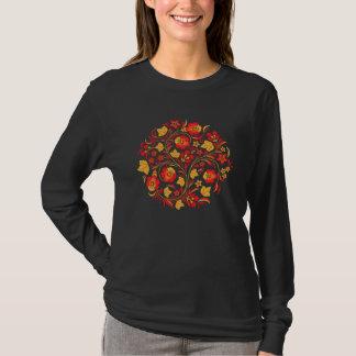 Russian Folk Art Khokhloma Woman T-shirt