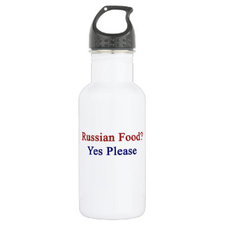 Russian Food Yes Please Water Bottle