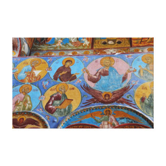 Russian frescoes canvas print