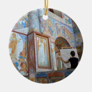 Russian frescoes ceramic ornament