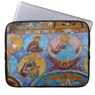 Russian frescoes laptop computer sleeve